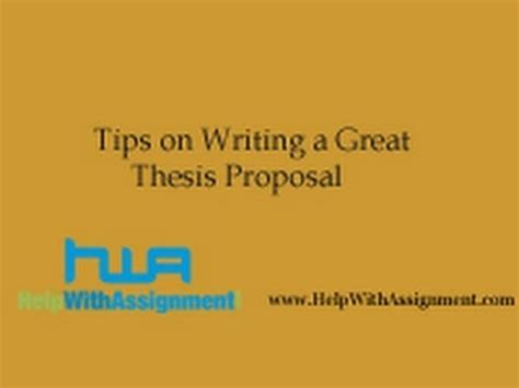 How to Write a Research Proposal - University of Birmingham